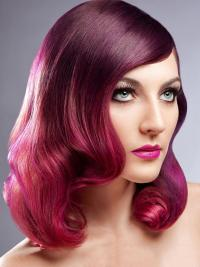 """Top Ombre/2 Tone Long Wavy Without Bangs 20"""" Human Lace Wigs"""