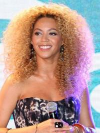 """Blonde Long Kinky Without Bangs Full Lace 18"""" Beyonce Wigs"""