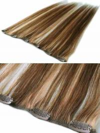 Good Brown Straight Remy Human Hair Clip In Hair Extensions