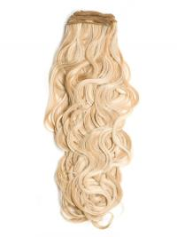 Curly Remy Human Hair Blonde Stylish Weft Extensions