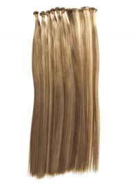 Straight Remy Human Hair Blonde Trendy Weft Extensions