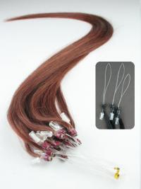 Incredible Auburn Straight Micro Loop Ring Hair Extensions