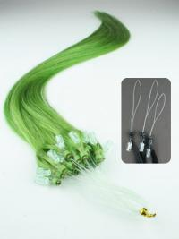 Amazing Black Straight Micro Loop Ring Hair Extensions