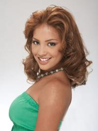 Clip In Hairpieces Curly Style With Remy Auburn Color