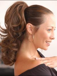 Hairstyles Wavy Brown Ponytails