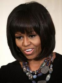 """Lace Front Bobs Chin Length Straight 10"""" Brown Designed First Lady Wigs"""