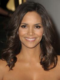 "Full Lace Wavy Layered Long Flexibility 16"" Halle Berry Wigs"