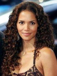 "Lace Front Curly Layered Long Fabulous 20"" Halle Berry Wigs"