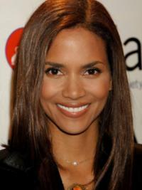 "Full Lace Straight Layered Long Online 14"" Halle Berry Wigs"