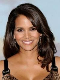 "Lace Front Wavy Layered Long Exquisite 16"" Halle Berry Wigs"