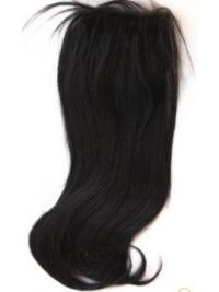 Modern Black Long Straight Lace Closures