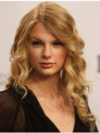 100% Hand-tied Without Bangs Wavy Long Blonde Incredible Taylor Swift Wigs