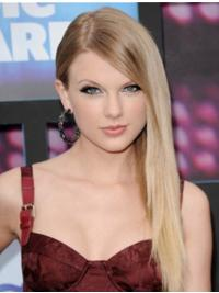 Lace Front With Bangs Straight Long Blonde Exquisite Taylor Swift Wigs