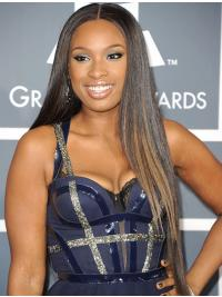Straight Lace Front Without Bangs Long Brown Soft Jennifer Hudson Wigs