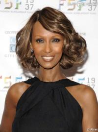 "Chin Length Wavy Lace Front Brown 12"" Incredible Iman Wigs"