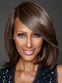 "Shoulder Length Straight Lace Front Brown 12"" Sassy Iman Wigs"