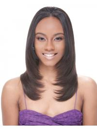 Long Brown Straight Without Bangs Suitable African American Wigs