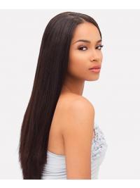 Long Auburn Yaki Without Bangs Cheap African American Wigs