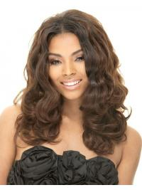 Long Brown Wavy Without Bangs Fashion African American Wigs