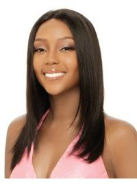 Long Brown Yaki Without Bangs Affordable African American Wigs