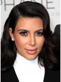 "Black Long Wavy Capless Online 18"" Kim Kardashian Wigs"
