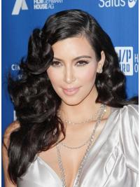 "Black Long Curly Lace Front Hairstyles 22"" Kim Kardashian Wigs"