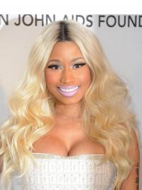 "22"" Blonde Wavy Without Bangs Long Amazing Nicki Minaj Wigs"