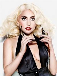 "16"" Sassy Shoulder Length Curly Layered Lady Gaga Wigs"