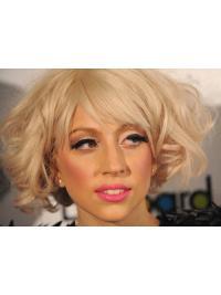 Lady Gaga Wig Chin Length With Bangs Remy Human
