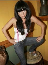 "20"" Beautiful Long Straight With Bangs Lady Gaga Wigs"