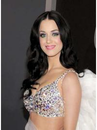 """26"""" Fashion Black Long Wavy Without Bangs Katy Perry Wigs"""