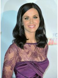 """16"""" Popular Black Shoulder Length Wavy Without Bangs Katy Perry Wigs"""