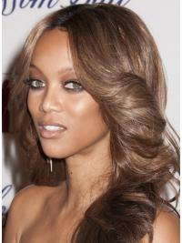 """Brown Wavy Layered Lace Front 20"""" Best Tyra Banks Wigs"""