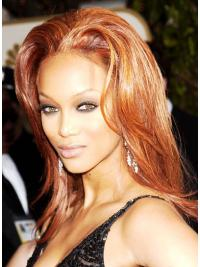 "Auburn Straight Layered Capless 15"" Stylish Tyra Banks Wigs"