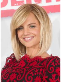 Mena Suvari Wigs Lace Front Straight Style Chin Length Bobs Cut