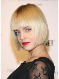 "Blonde Chin Length 100% Hand-tied 10"" Mena Suvari Wigs"