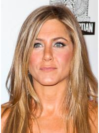 "Long Straight Layered Lace Front Blonde Good 20"" Jennifer Aniston Wigs"