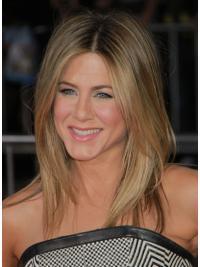 "Shoulder Length Straight Layered Capless Blonde Cheapest 17"" Jennifer Aniston Wigs"