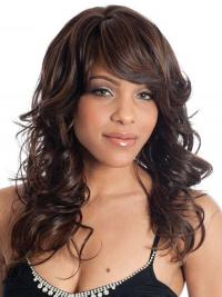 Natural Looking Wigs With Synthetic Capless Wavy Style Long Length