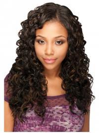 Popular Brown Long Kinky U Part Wigs