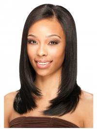 Brazilian Lace Front Shoulder Black Straight U Part Wig