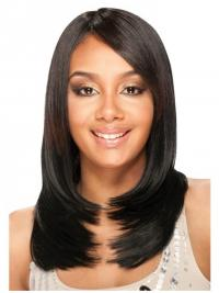 Brazilian Lace Front Long Black Yaki Lace Front Wigs