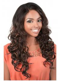 Amazing Brown Long Wavy U Part Wigs