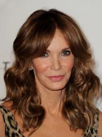 "Long Wavy Layered Lace Front Brown Sleek 16"" Jaclyn Smith Wigs"