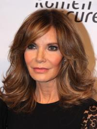 "Shoulder Length Wavy Layered Full Lace Brown High Quality 14"" Jaclyn Smith Wigs"
