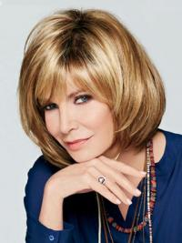 """Chin Length Wavy With Bangs Lace Front Brown Best 12"""" Jaclyn Smith Wigs"""