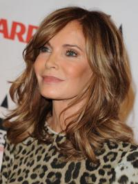 """Shoulder Length Wavy Layered Lace Front Brown Stylish 14"""" Jaclyn Smith Wigs"""