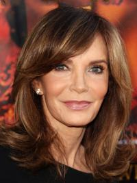 "Shoulder Length Wavy Layered Lace Front Brown Durable 14"" Jaclyn Smith Wigs"