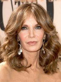 "Shoulder Length Wavy Layered Lace Front Brown No-Fuss 14"" Jaclyn Smith Wigs"