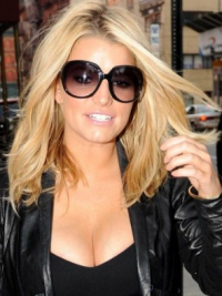 "12"" New Blonde Long Wavy Without Bangs Jessica Simpson Wigs"